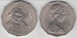 AUSTRALIE - AUSTRALIA **** 50 CENTS 1970 200th ANNIVERSARY COOK'S AUSTRALIAN VOYAGE **** EN ACHAT IMMEDIAT !!! - Monnaie Décimale (1966-...)
