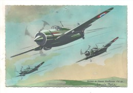 Avions De Chasse Koolhoven F.K.58. Dessin De Louis Petit Exclusivité ERPE - 1939-1945: 2ème Guerre