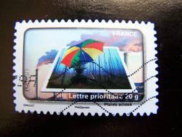 OBLITERE FRANCE ANNEE 2010 N° 413 LE TIMBRE FETE L´EAU LES PLUIES ACIDES - France