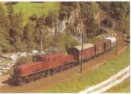 TRAIN Suisse - EISENBAHN Schweiz - WASSEN (WATTINGER KEHRTUNNEL) - Elektro Güterzuglokomotive Ce 6/8 II N°14253 Krokodil - Trains