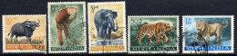 INDIA 1963 Wildlife Conservation  - Mammals Set Of 5 Used  SG 472-76 - India