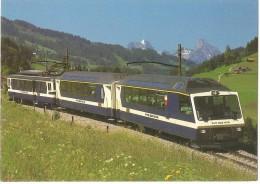 TRAIN Suisse - EISENBAHN Schweiz - ZWEISIMMEN - Train SUPERPANORAMIC EXPRESS - Autorail, Tramway - Foto E. Zbären - Trains