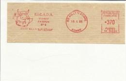 Lettre  EMA Sicada Viande En Gros  Animaux Boeuf Vache  Theme 60 Ailly A4/15 - Vaches