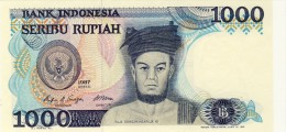 BILLET # INDONESIE # 1000  RUPIAH  # SERIBU RUPIAH #  PICK 124 # 1987 #  NEUF # - Indonésie