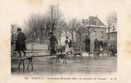 JOINVILLE-LE-PONT INONDATIONS DE JANVIER 1910 PASSERELLE DE POLANGIS   FRANCHISE MILITAIRE S G V G SECTEUR A SECTION V - Joinville Le Pont