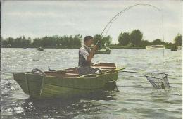 0067. Beet - Blue Band - Sportboek: 40 Sporten In Woord En Beeld. Visser. Roeiboot. Hengel. Visnet.Vissen - Fishing