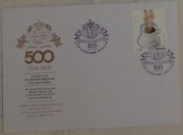 Portugal - Santa Casa Da Misericórdia 500 Years 2010 - VIla Do Conde - Coffee  Stamp - Tegen De Honger