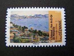 FRANCE OBLITERE 2013 N° 826 CEZANNE SERIE DU CARNET AVANT ET APRES L´IMPRESSIONNISME THEME EAU AUTOCOLLANT ADHESIF - France