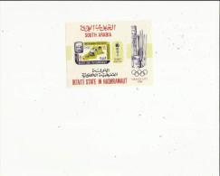 Bloc  De South Arabia  -Qu´aiti State In Hadhramaut ( Mexico-City En 1968 - Hojas Bloque
