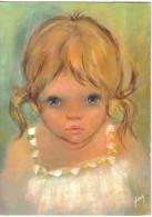 Carte Postale Illustrateur  Evelyne Wavrant  Les Bambins  Petite Fille Trés Beau Plan - Illustrateurs & Photographes
