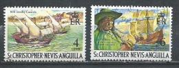 St. Christ. Nevis - Anguilla. Scott # 210,12 Used. Commemoratives. 1970 - St.Kitts And Nevis ( 1983-...)