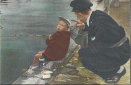 0115. Jeugdige Sportvisser - Blue Band. Sportboek: 40 Sporten In Woord En Beeld. Politieagent. Hengel. Visser. - Fishing