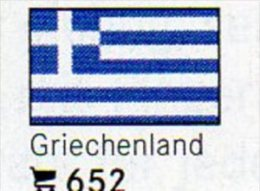Set 6 Flaggen-Sticker Griechenland In Farbe 4€ Zur Kennzeichnung Von Alben+ Sammlungen Firma LINDNER #652 Flag Of GREECE - Matériel