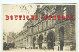 ACHAT IMMEDIAT < CARTE PHOTO < HIPPOMOBILE < VOITURE à Cheval - Attelage Aux Guichets Du Musée Du Louvre - Dos Scanné - Taxi & Carrozzelle
