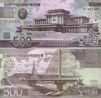Billet De COREE Du NORD De 500 Won   Pick 44. - Corea Del Nord