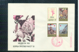 Jugoslawien / Yugoslavia / Yougoslavie 1991 Roten Kreuz / Red Cross Krebs / Cancer FDC - Croix-Rouge