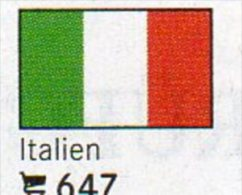 Set 6 Flaggen-Sticker Italien In Farbe 4€ Zur Kennzeichnung Von Alben Und Sammlungen Firma LINDNER #647 Flag Of Italy - Matériel