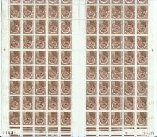 Préoblitéré N°131 - 0,30 Monnaie Gauloise Feuille De 100 Timbres - Coin Daté 04.71 - 1964-1988