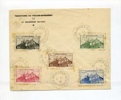 1946 Terretoire Du Fezzan Ghadames Lettre Brief Fünf Werte Terretoire Militaire YT 28-32 MI 16-20 - Brieven En Documenten