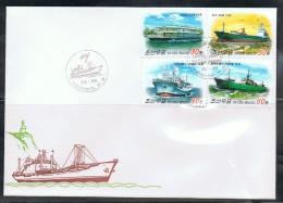 NORTH KOREA 2013 SHIPS FDC - Boten