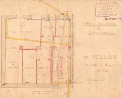 VP958 - LES LILAS - Plan Des Caves Et Canalisation Propriété De Mr MELLIER / Architecte E. LEFEVRE  BAGNOLET - Architecture