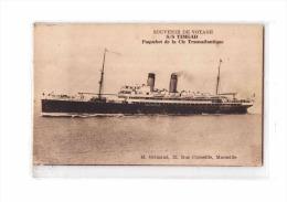 13 MARSEILLE Port, Paquebot Timgad, Compagnie Générale Transatlantique, CGT, Ed Grimaud, Souvenir De Voyage, 191? - Vieux Port, Saint Victor, Le Panier