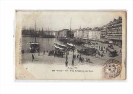 13 MARSEILLE Vieux Port, Vue Générale, Omnibus, Tramway à Chevaux, Ed Lacour 50, 1905, Dos 1900 - Vieux Port, Saint Victor, Le Panier