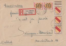 Fr. Zone R-Brief Mif Minr.3x 4, 2x 8 Linz 12.2.46 - Französische Zone