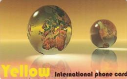 Norway, PPC 32-10, Yellow, 2 Bigger Globes, 2 Scans.  Also Denmark And Sweden - Norwegen