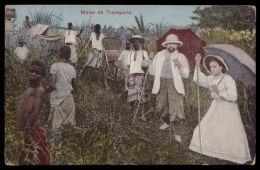 ANGOLA / CABINDA / CONGO PORTUGUÊS. Meios De Transporte. Old Postcard ETHNIC Hammock AFRICA - Angola