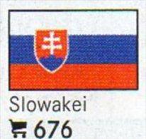 Pac 6 Flaggen-Sticker Slowakei In Farbe 4€ Zur Kennzeichnung Von Alben + Sammlungen Firma LINDNER #676 Flag Of SLOVENSKO - Matériel
