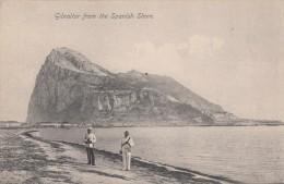 C1900 GIBRALTAR FROM THE SPANISH SHORE - Gibraltar