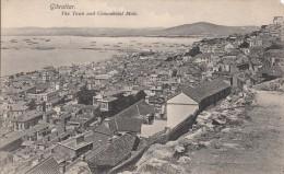 C1900 GIBRALTAR THE TOWN AND COMMERCIAL MOLE - Gibraltar