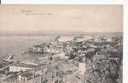 C1900 GIBRALTAR ROSIA BAY AND NEW MOLE - Gibraltar