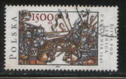 POLAND 1991 750TH ANNIV BATTLE OF LEGNICA JOINT ISSUE GERMANY USED KNIGHTS HISTORY - History