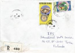 Mali 1993 Bamako Rotary Solidarity Independence Registered Cover - Mali (1959-...)