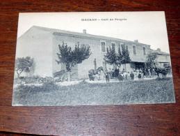 Carte Postale Ancienne : MAURAN : Café Du Progrès , Tres Belle Animation - Francia