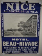 AFFICHE DE NICE 1900 GRAND FORMAT : HOTEL BEAU RIVAGE - CASINO -  PHOTOGRAPHIE ROBAUDY CANNES POSTER AUTOMOBILES DESIGN