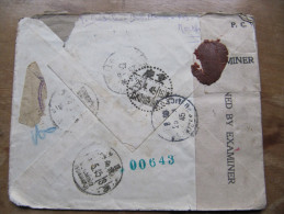 1/ China Rare courrier France Chine militaire 1944 1945 maroc censure anglaise Chongking  CATC arm�e fran�aise China