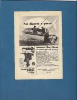 # JOHNSON Outboard Marine Motor 1950s Italy Advert Pub Pubblicità Reklame Boat Bateau Boot  Sea River Lake Mer Fishing - Boats