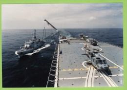Aviso A69  Cdt BIROT Et TCD FOUDRE En Ravitaillement A La Mer,31/05/ 90, 18,4 X 12.7 Cm - Boats