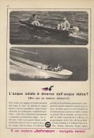 # JOHNSON Outboard Marine Motor 1960s Italy Advert Pub Pubblicità Reklame Boat Bateau Boot  Sea River Lake Mer Fishing - Boats