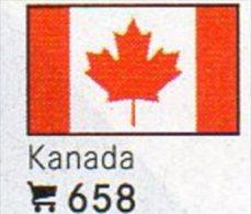 Set 6 Flaggen-Sticker Kanada In Farbe 4€ Zur Kennzeichnung Von Alben Und Sammlungen Firma LINDNER #658 Flag Of CANADA - Matériel