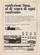 # LIMA TRENI ELETTRICI 1960s Italy Advert Pub Pubblicità Reklame Train HO Scale Zug Tren Treno - Scala HO