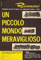 # RIVAROSSI TRENI ELETTRICI 1960s Italy Advert Pub Pubblicità Reklame Train HO Scale Zug Tren Treno - HO Scale