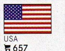 6 Flaggen-Sticker USA In Farbe Pack 4€ Zur Kennzeichnung Von Alben + Sammlungen Firma LINDNER #657 Flag Of United States - Matériel