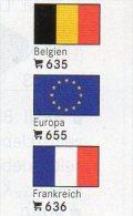 6-set 3x2 Farben Flaggen-Sticker Variabel 4€ Zur Kennzeichnung Von Alben+Sammlungen Firma LINDNER #600 Flag Of The World - Materiaal
