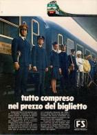 # FERROVIE DELLO STATO 1970s Italy Advert Pub Pubblicità Reklame Train Zug Tren Treno Railways - Transporto