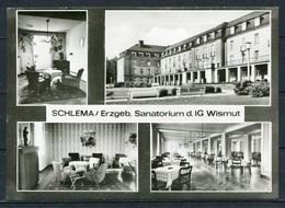 Schlema/ Erzgeb. / Sanatorium D. IG Wismut/ Mehrbildkarte S/w - Gel. 1983 - DDR - Bild Und Heimat  558/82  01 14 02 237 - Schlema