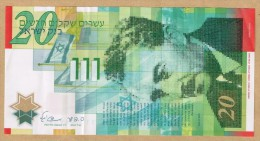 RARE 20 ISRAEL NEW SHEKEL 2008 NOTE *** 60 YEARS ANNIVERSARY *** POLYMERE - Israel